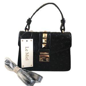 Le Miel Vegan Mini Top Handle Crossbody Bag
